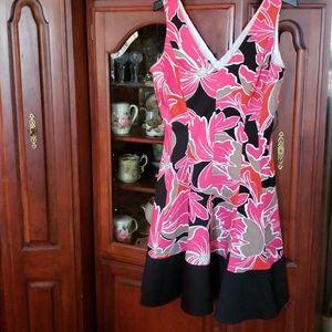 Colorful summer swing dress